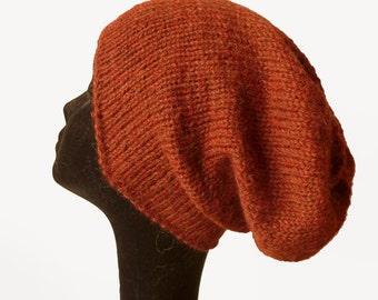 Baby Alpaka Slouch Beanie hat, Urban Style, Natural Fibre