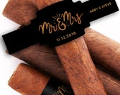 Custom Cigar Bands - Wedding Cigar Labels - Cigar Bar - mr and mrs