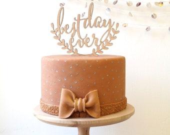 Wedding cake topper, Best day ever cake topper, rustic cake topper, wooden cak topper, your wood choice