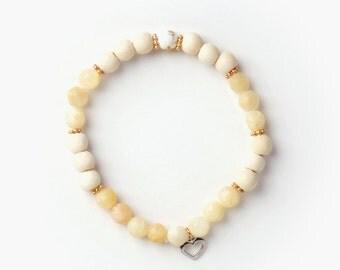 Island bracelet, semi-precious stones handmade in Montreal