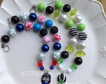 READY TO SHIP! Halloween Zombie Necklace- Frankie Bride Necklace- Halloween Necklace- Zombie Necklace