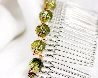 Large Hair Comb, Handwoven Hair Comb, Hair Comb for any occasion, Crystal hair comb, Handmade