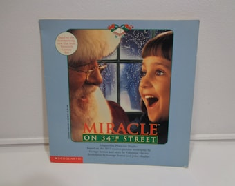 Vintage 90s Miracle on 34th Street Movie Photo Children's Story Book by Scholastic, 1994, Gifts Under 5