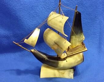 A Buffalo Horn Ship