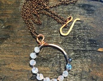 Copper Moonstone Necklace