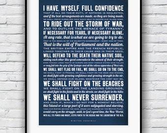 Winston Churchill, Quote prints, British bulldog, Inspirational quote, Famous quotes, Quote poster, Typographic print, gift