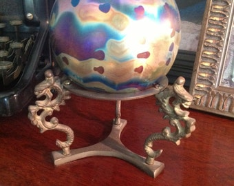 Vintage Blown Glass Ball by Levay
