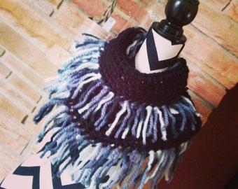SALE! Crochet Infinity Fringe Scarf