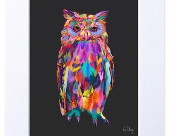 Owl Illustration, Digital Bird Print