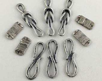 10 mixed connectors antique silver #CON069
