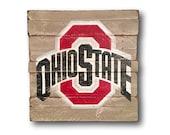Ohio State Buckeyes Sign /Ohio State Wall Hanging / OSU Wall Art