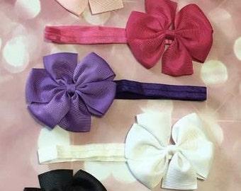 Baby Headbands, Bows, Monogrammed Baby Bow, Monogram, Monogram Baby Acessories, Bow Monogram, Monogram Baby Headband, Baby Shower