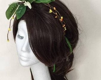 flower headpiece, bridal headdress, flower headdress, festival headpiece,