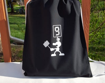 Mr. Game and Watch 9 Draw String Bag
