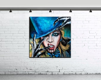 Art Portrait Painting Pop Art painting large Art Contemporary Original Acrylic Painting Marie Brinks singer famous people coloured Wall Art