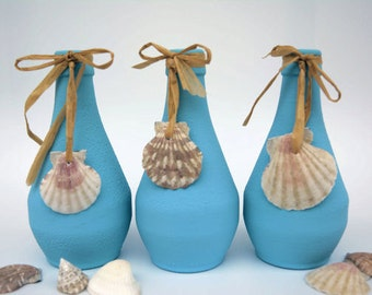 Upcycling Vases, Flower Vases, Jars, Candle holders, Set of 3