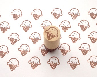 Ice cream rubber stamp, Kawaii summer stamp, Kids toy rubber stamp, Japanese stationery, Kawaii ice cream, Wrapping paper decor Scrapbooking