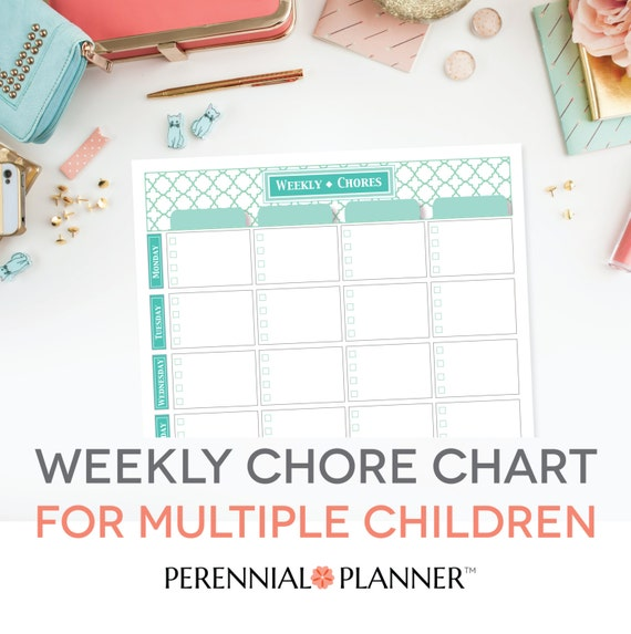 It is a photo of Vibrant Printable Chore Charts for Multiple Children