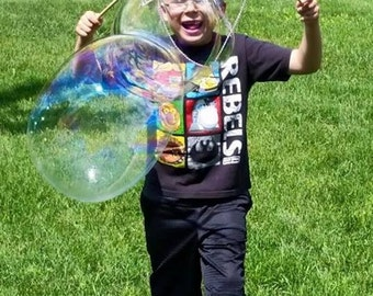 Small String Bubble Wand, Awesome, Big Bubbles, Outdoor Activity, Learning Toy, Easy to Use, Fun for All Ages, Children's Gift, Science Fun.