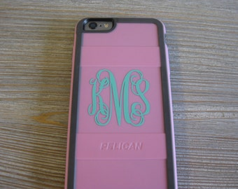 Phone Case Monogram Decal - Monogram Decal Phone Case - Phone Case Decal - Phone Case Monogram - Fancy Monogram - Vine Monogram - Phone