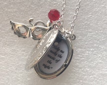 Phantom of the Opera Necklace, Quote Locket, Broadway Musical, Gift for Her