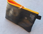 Recycled Rubber Clutch - Large Bike Tube Zipper Pouch - Bike Tool Bag