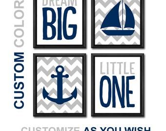 nautical boy nursery navy and gray, nautical baby room decor sailboat anchor, sailor nursery, sailor baby decor, nautical baby decor custom