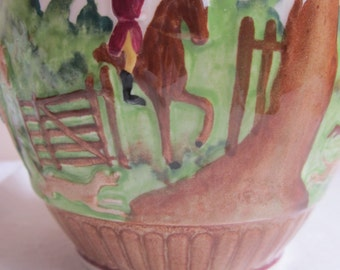 Wedgwood Pitcher, 'Dye Ken John Peel', Horses and Hounds to the Hunt, Six Inch Size