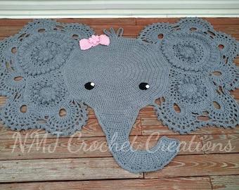 Free Crochet Elephant Rug Pattern : Crochet Elephant Rug