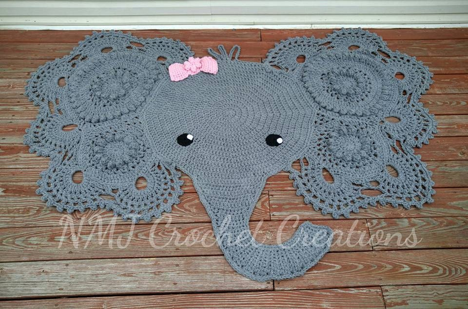 Crochet Elephant Rug by NMJCrochetCreations on Etsy