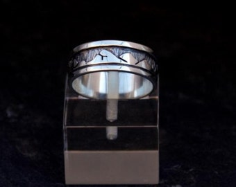 Mountain in silver rings