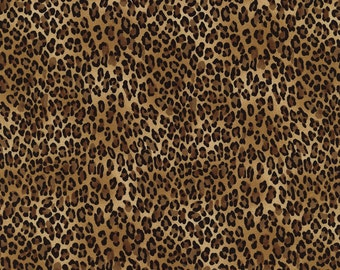 Animal Fabric - Tiny Leopard Print - Safari by Timeless Treasures C2722- Price by the  1/2 yard