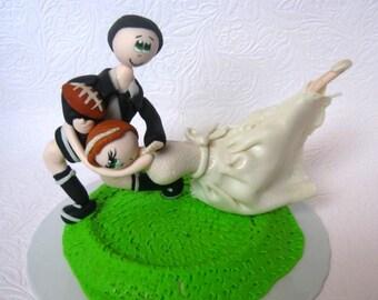 Funny wedding cake topper, funny cake topper, sports wedding cake topper, rugby cake topper