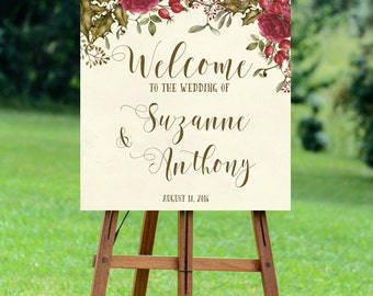 christmas wedding sign, welcome christmas wedding sign, winter wedding sign, christmas welcome sign, 16x20, 18x24, 24x30, YOU PRINT