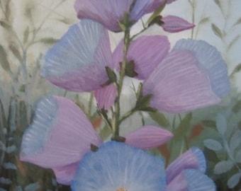 Field Flower, original oil painting, 11x14