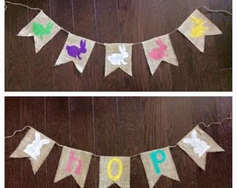 Spring Burlap Banners