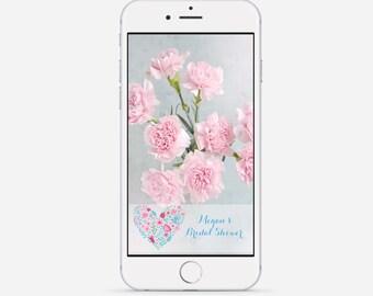 Bridal Shower Snapchat Geofilter, Wedding Snapchat Filter, Baby Shower Geofilter, Floral Snapchat Geofilter, Floral Wedding Filter