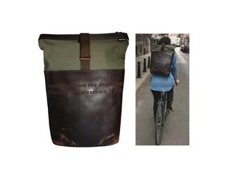 Leather Backpack - Rucksack backpack - mens backpack - Brown backpack - outdoor backpack - leather back pack