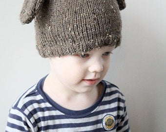 Puppy Dog Hat KNITTING PATTERN - knit hat pattern for babies, toddlers, kids, sizes 0-3 months, 6 months, 12 months and 2T+