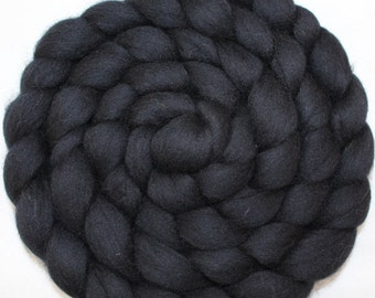 Extra Fine Merino Wool Roving / Combed top - Black (DHG) 4 oz