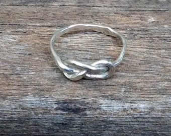 Solid Silver Infinity Love-Knot Ring