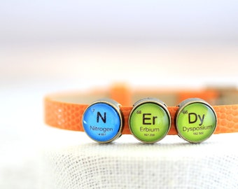 Nerd Periodic Table, Nerdy Periodic Table Bracelet, Periodic Table, N Er Dy, Nerdy Bracelet, Periodic Table Bracelet, Chemistry Bracelet
