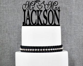 Buck And Doe Surname Cake Topper Last Name Cake Topper Monogram Cake Topper Wedding Shower Bridal Shower Gift Acrylic Cake Topper - (T238)