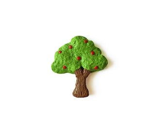 SALE - Apple Tree Magnet - Polymer Clay Magnets - Tree Magnet - Nature Magnet - Cute Magnet - Refrigerator Magnet - Kitchen Magnet