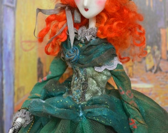 Clay cold porcelain - Art doll handmade- Rebelle doll victorienne