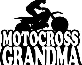 Motocross Grandma Hoodie/ Motocross Grandma Sweatshirt/ Motocross Grandma Gift/ Motocross/ Boy Rider Motocross Grandma Hoodie Sweatshirt
