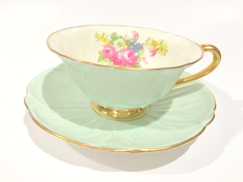 shelley tea cup and saucer shelley oleander by aprilsluxuries. Black Bedroom Furniture Sets. Home Design Ideas