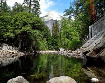 Yosemite Photography Art Print - Forest Nature River Landscape Travel Fine Art Photo Print