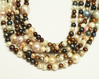 Cultured  Freshwater Pearl Round Shape Beads