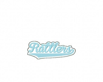 Rattlers - Team -  Headband Slip On  - DIGITAL Embroidery DESIGN